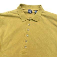 画像2: 1990's GAP(ギャップ) L/S Polo Shirt MUSTARD size L-XL(表記L) (2)