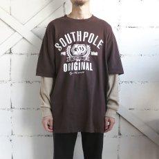 画像2: SOUTHPOLE L/S Layered Print T-Shirt BROWN size XXL(表記XXL) (2)