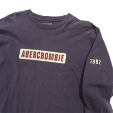 画像3: 1990's~ Abercrombie & Fitch Logo Print L/S T-Shirt NAVY size XL(表記XL) (3)