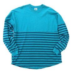 画像1: SPIRIT JERSEY Border L/S T-Shirt GREEN/NAVY size M, XXL (1)