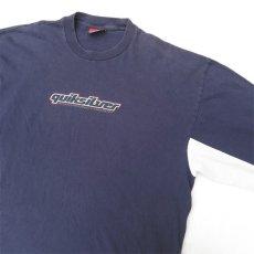 画像5: 1990's~ QUIKSILVER Logo Print L/S T-Shirt NAVY/L.GREY size L(表記XL) (5)