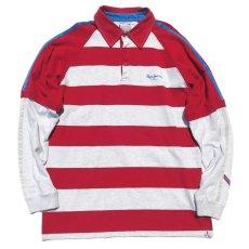 画像1: Pepe Jeans L/S Layered Lager Shirt RED/ASH GREY sizeXL(表記L) (1)