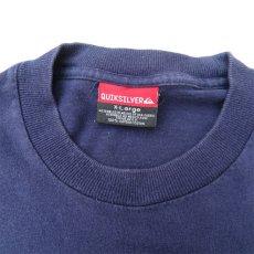 画像6: 1990's~ QUIKSILVER Logo Print L/S T-Shirt NAVY/L.GREY size L(表記XL) (6)