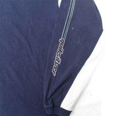 画像4: 1990's~ QUIKSILVER Logo Print L/S T-Shirt NAVY/L.GREY size L(表記XL) (4)