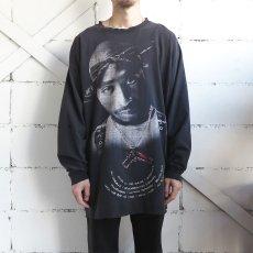 "画像2: Russo Wear ""2 PAC"" Print L/S T-Shirt BLACK size XXXL(表記3XL) (2)"