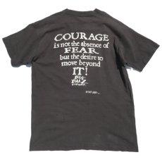 """画像4: 1990's FRUIT OF THE LOOM """"BIG BALZ EDGE GEAR"""" Print T-Shirt BLACK size L(表記L) (4)"""
