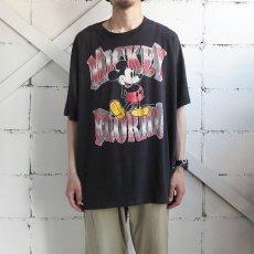 """画像2: 1980's~ Disney """"MICKEY MOUSE"""" Print T-Shirt BLACK size XL-XXL(表記不明) (2)"""