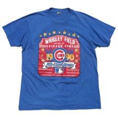 """画像1: 1990's SCREEN STARS """"CHICAGO CUBS"""" Print T-Shirt BLUE size M-L(表記XL) (1)"""