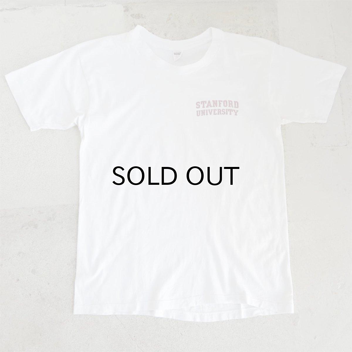 """画像1: 1980's collegiate pacific """"STANFORD UNIVERSITY"""" Print T-Shirt WHITE size M(表記L) (1)"""