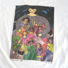 "画像4: 1990's Hanes BEEFY ""motherhood"" Art Print T-Shirt WHITE size L(表記L) (4)"