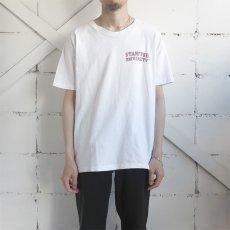 """画像2: 1980's collegiate pacific """"STANFORD UNIVERSITY"""" Print T-Shirt WHITE size M(表記L) (2)"""
