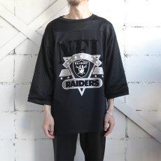 """画像2: 1980's ARTEX """"RAIDERS"""" Print Football T-Shirt BLACK size L(表記XL) (2)"""