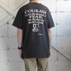 """画像3: 1990's FRUIT OF THE LOOM """"BIG BALZ EDGE GEAR"""" Print T-Shirt BLACK size L(表記L) (3)"""