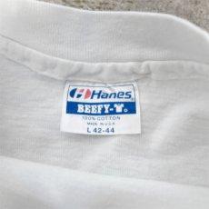 """画像3: 1980's Hanes BEEFY """"TEAM isotonix"""" Print T-Shirt WHITE size M(表記L) (3)"""