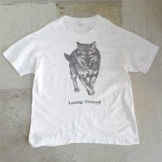 """画像1: 1990's anvil """"Human-I-Tees"""" Animal Print T-Shirt WHITE size XL(表記XL) (1)"""