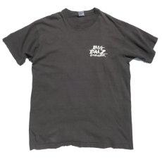 """画像1: 1990's FRUIT OF THE LOOM """"BIG BALZ EDGE GEAR"""" Print T-Shirt BLACK size L(表記L) (1)"""
