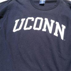 """画像4: 1990's~ Champion """"UCONN"""" College Print T-Shirt NAVY size L(表記L) (4)"""