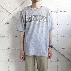 """画像2: 1990's~ Champion """"BOWDOIN"""" College Print T-Shirt HEATHER GREY size L(表記L) (2)"""
