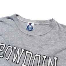"""画像3: 1990's~ Champion """"BOWDOIN"""" College Print T-Shirt HEATHER GREY size L(表記L) (3)"""