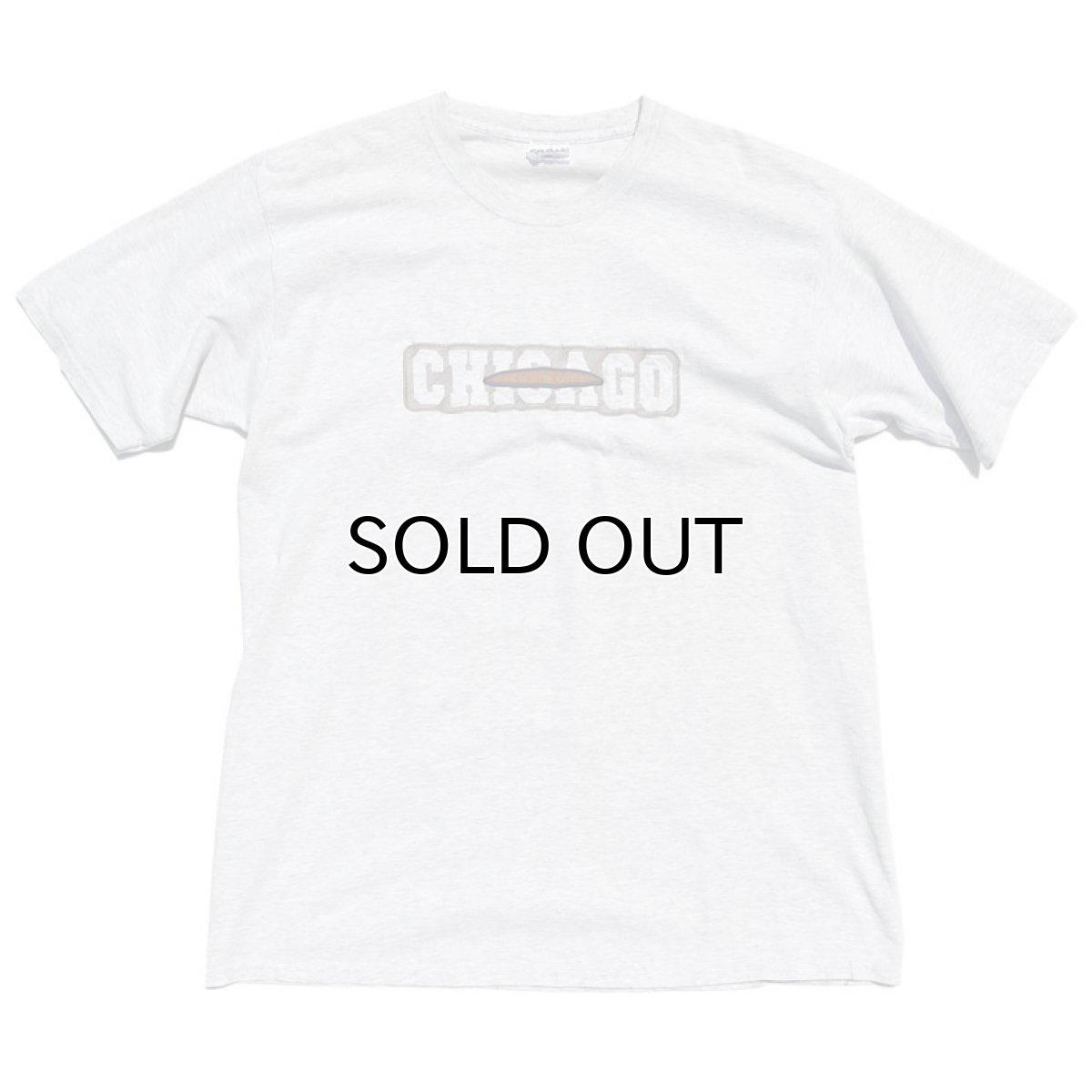 """画像1: GILDAN """"CHICAGO"""" Logo Print T-Shirt ASH GREY size XL(表記不明) (1)"""