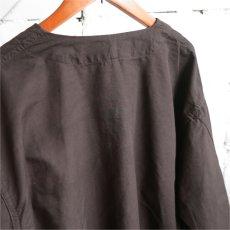 画像6: 1950's U.S. ARMY Cotton Pajama Shirt  -DEAD STOCK- BROWN over dyed size L (6)