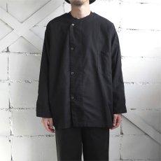 画像1: 1950's U.S. ARMY Cotton Pajama Shirt  -DEAD STOCK- BLACK over dyed size L (1)