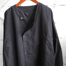 画像6: 1950's U.S. ARMY Cotton Pajama Shirt  -DEAD STOCK- BLACK over dyed size L (6)