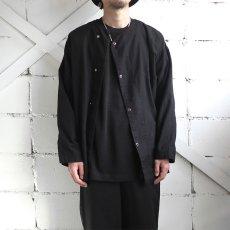 画像2: 1950's U.S. ARMY Cotton Pajama Shirt  -DEAD STOCK- BLACK over dyed size L (2)
