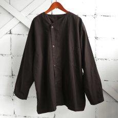 画像4: 1950's U.S. ARMY Cotton Pajama Shirt  -DEAD STOCK- BROWN over dyed size L (4)