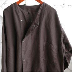 画像5: 1950's U.S. ARMY Cotton Pajama Shirt  -DEAD STOCK- BROWN over dyed size L (5)