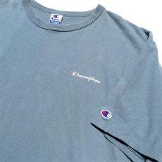 """画像4: 1990's """"Champion"""" Logo Print T-Shirt GREY BLUE size XXL (4)"""