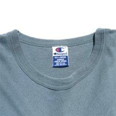 """画像3: 1990's """"Champion"""" Logo Print T-Shirt GREY BLUE size XXL (3)"""