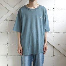 """画像2: 1990's """"Champion"""" Logo Print T-Shirt GREY BLUE size XXL (2)"""