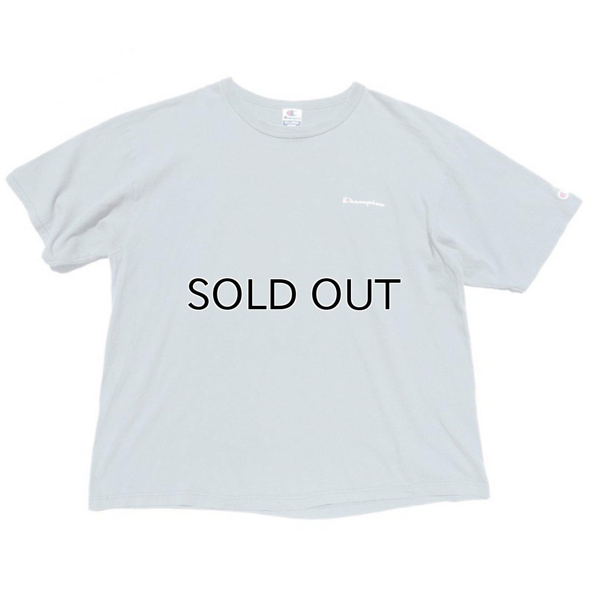 """画像1: 1990's """"Champion"""" Logo Print T-Shirt GREY BLUE size XXL (1)"""