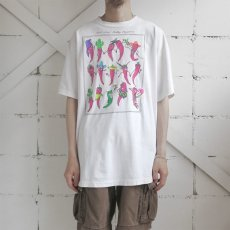 """画像2: 1990's """"Red Hot Silly Peppers"""" Print T-Shirt WHITE size XL-XXL (2)"""