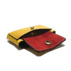 """画像7: """"JUTTA NEUMANN"""" Leather Wallet """"Scotts Purse""""  -MINIMAL SIZE- color : YELLOW / BRICK RED (7)"""