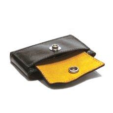 """画像7: """"JUTTA NEUMANN"""" Leather Wallet """"Scotts Purse""""  -MINIMAL SIZE- color : BLACK / MUSTARD (7)"""