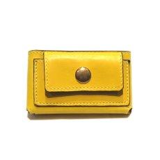 """画像1: """"JUTTA NEUMANN"""" Leather Wallet """"Scotts Purse""""  -MINIMAL SIZE- color : YELLOW / BRICK RED (1)"""