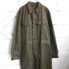 """画像1: 1950's """"French Military"""" Cotton Twill All in One -DEAD STOCK- OLIVE size L-XL(54) (1)"""