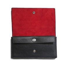 """画像5: """"JUTTA NEUMANN"""" Leather Wallet """"Waiter's Wallet"""" -長財布- color : Black / Orange (5)"""