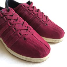 """画像5: NEW K-SWISS """"CLASSIC 96"""" Suede Sneaker BURGUNDY size US 9.5 (5)"""