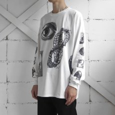 "画像9: NEW ""M.C. Escher"" Multi Print L/S T-Shirts color : WHITE, BLACK size S, M, L (9)"