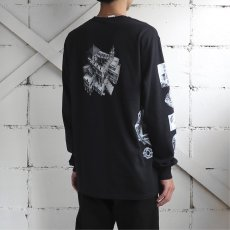 "画像11: NEW ""M.C. Escher"" Multi Print L/S T-Shirts color : WHITE, BLACK size S, M, L (11)"