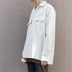 """画像8: Riprap """"Semi Open Collar Shirt"""" -Cotton Back Satin-  color : NATULAL size MEDIUM, LARGE, X-LARGE (8)"""
