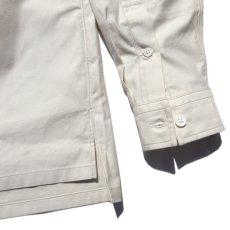 """画像5: Riprap """"Semi Open Collar Shirt"""" -Cotton Back Satin-  color : NATULAL size MEDIUM, LARGE, X-LARGE (5)"""