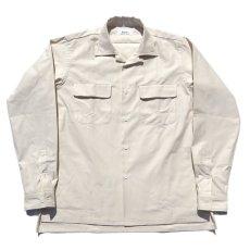 """画像1: Riprap """"Semi Open Collar Shirt"""" -Cotton Back Satin-  color : NATULAL size MEDIUM, LARGE, X-LARGE (1)"""