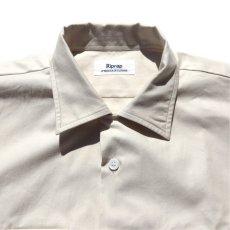 """画像4: Riprap """"Semi Open Collar Shirt"""" -Cotton Back Satin-  color : NATULAL size MEDIUM, LARGE, X-LARGE (4)"""