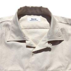 """画像3: Riprap """"Semi Open Collar Shirt"""" -Cotton Back Satin-  color : NATULAL size MEDIUM, LARGE, X-LARGE (3)"""