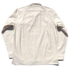 """画像2: Riprap """"Semi Open Collar Shirt"""" -Cotton Back Satin-  color : NATULAL size MEDIUM, LARGE, X-LARGE (2)"""