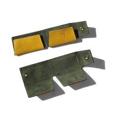 """画像6: """"JUTTA NEUMANN"""" Leather Wallet """"Scotts Purse""""  -MINIMAL SIZE- color : YELLOW / SMOKY GREEN (6)"""